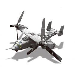 Wange JX006 (NOT Lego Military Army V-22 Osprey Tiltrotor ) Xếp hình Máy Bay Chim Ưng Biển 593 khối