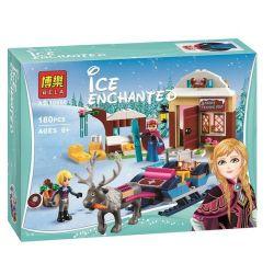 Lele 79276 Sheng Yuan 372 SY372 Bela 10666 (NOT Lego Disney Princess 41066 Anna & Kristoff's Sleigh Adventure ) Xếp hình Cỗ Xe Tuần Lộc Của Anna Và Kristoff 180 khối