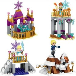 LELE 37003 Xếp hình kiểu Lego Happy Princess Frozen Small Scene Quad Nữ Hoàng Băng Giá 4 Trong 1