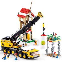 SLUBAN M38-B0553 B0553 0553 M38B0553 38-B0553 Xếp hình kiểu Lego CITY Engineering Heavy-duty Crane Cần Cẩu Di động 767 khối