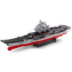 Sluban M38-B0388 Xếp hình kiểu LEGO Military Army Aircraft carrier Liaoning Tàu sân bay tỉ lệ 1:350 1881 khối
