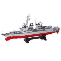 SLUBAN M38-B0390 B0390 0390 M38B0390 38-B0390 Xếp hình kiểu Lego MILITARY ARMY China Destroyer 1 350 Tàu Khu Trục 615 khối