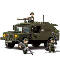 Sluban M38-B9900 (NOT Lego Military Army Armored Hummer ) Xếp hình Xe Bọc Thép 191 khối