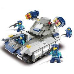 Sluban M38-B0206 (NOT Lego SWAT Special Force Vulcan Missile Tank ) Xếp hình Xe Thiết Giáp Tên Lửa Lực Lượng Đặc Nhiệm 273 khối
