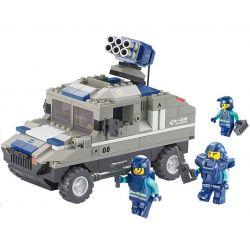 Sluban M38-B0203 (NOT Lego SWAT Special Force Armored Hummer ) Xếp hình Xe Hummer Bắn Rocket 265 khối