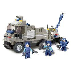 Sluban M38-B0200 (NOT Lego SWAT Special Force Artillery Tractor ) Xếp hình Xe Tải Kéo Pháo 232 khối