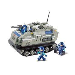 Sluban M38-B0199 (NOT Lego SWAT Special Force Armored Vehicle ) Xếp hình Xe Bọc Thép Chở Quân 258 khối