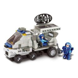 Sluban M38-B0198 (NOT Lego SWAT Special Force Support Radar Van ) Xếp hình Xe Rada 198 khối