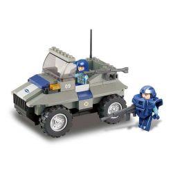 SLUBAN M38-B0195 B0195 0195 M38B0195 38-B0195 Xếp hình kiểu Lego SWAT SPECIAL FORCE Assault Vehicle Xe jeep 103 khối