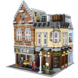 LEPIN 15034 Xếp hình kiểu Lego CREATOR Bike Shop Store Bar Apartment Building Góc Phố Hiện Đại Của Thành Phố 4210 khối