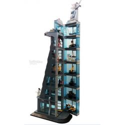 SHENG YUAN SY 1180 1349 SH678 SY1180 1180 SY1349 1349 SYSH678 Xếp hình kiểu Lego SUPER HEROES Attack On Avengers Tower Tấn công tòa tháp Siêu anh hùng gồm 2 hộp nhỏ 1209 khối
