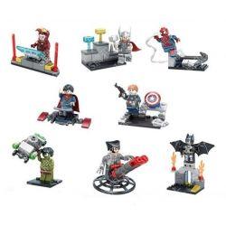 Sheng Yuan 656 SY656 (NOT Lego Super Heroes Batman Thor Spider Superman Captain American Hulk Wolverine Iron Man ) Xếp hình Bộ 8 Búp Bê Siêu Nhân Anh Hùng gồm 8 hộp nhỏ 239 khối