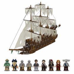 BLANK 80012 G BRAND 631018 J 631018 KING 83015 LEPIN 16016 LION KING 180049 Xếp hình kiểu Lego PIRATES OF THE CARIBBEAN Flying Dutchman Thuyền Người Hà Lan Bay 3652 khối