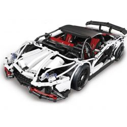 KING 93004 LEPIN 23006 LIN07 0022 REBRICKABLE MOC-2684 2684 MOC2684 MOC-2695 2695 MOC2695 Xếp hình kiểu Lego TECHNIC Lamborghini Aventador LP 720-4 Pirelli Edition Siêu Xe Lamborghini gồm 2 hộp nhỏ 25