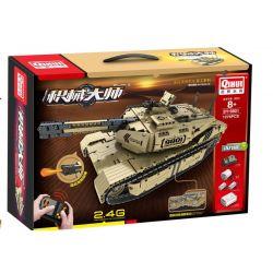 QIHUI 9801 Xếp hình kiểu Lego TECHNIC Machinery Master Desert Eagle Main Tank Xe Tăng M1A2 1276 khối điều khiển từ xa