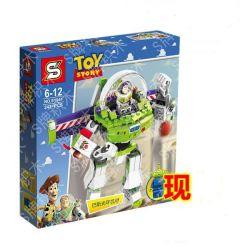 SHENG YUAN SY SY941 Xếp hình kiểu Lego TOY STORY Construct-a-Buzz Toy Story Basi Cảnh Sát Vũ Trụ Buzz Lightyear 205 khối