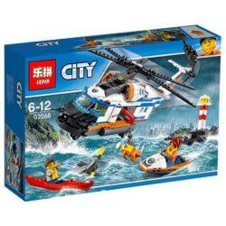 Lepin 02068 Bela 10754 Lele 39053 (NOT Lego City 60166 Heavy-Duty Rescue Helicopter ) Xếp hình Trực Thăng Cứu Nạn 448 khối