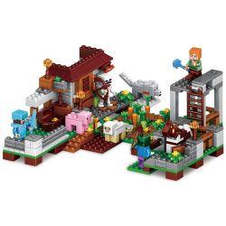 BLX 81007 LELE 33000 LEPIN 18014 18014A 18014B 18014C 18014D Xếp hình kiểu Lego MINECRAFT CubeWorld My World 4 Models Of The City Of The Horse Bộ 4 Mô Hình Nhỏ gồm 4 hộp nhỏ 392 khối