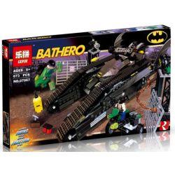 Decool 7108 Jisi 7108 LEPIN 07067 Xếp hình kiểu THE LEGO BATMAN MOVIE The Bat-Tank The Riddler And Bane's Hideout Batman Tank Car Wars Xe Tăng Của Người Dơi 645 khối