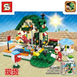 Sheng Yuan 932 SY932 (NOT Lego Minecraft Summer Camp ) Xếp hình Cắm Trại Mùa Hè 405 khối