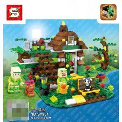 SHENG YUAN SY 931 SY931 Xếp hình kiểu Lego MINECRAFT Garden Hut Lều trong vườn gồm 2 hộp nhỏ 350 khối