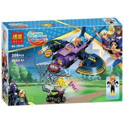 Bela 10615 Lari 10615 SHENG YUAN SY SY885A 885A Xếp hình kiểu Lego DC SUPER HERO GIRLS Batgirl Batjet Chase Bat Female Bat Jet Phi Thuyền Của Dơi Nữ 206 khối
