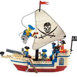 Enlighten 304 Qman 304 Xếp hình kiểu Lego PIRATES OF THE CARIBBEAN Corsair Pearl Pirate Ship Tàu Cướp Biển Ngọc Trai 188 khối