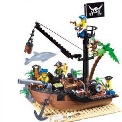 Enlighten 306 Qman 306 Xếp hình kiểu Lego PIRATES OF THE CARIBBEAN Corsair Scrap Dock Tàu Tháo Dỡ Dock 178 khối