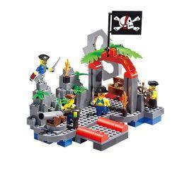 Enlighten 309 Qman 309 Xếp hình kiểu Lego PIRATES OF THE CARIBBEAN Corsair 骷髅 水 Xây Dựng Bộ Xương Hamlet 206 khối