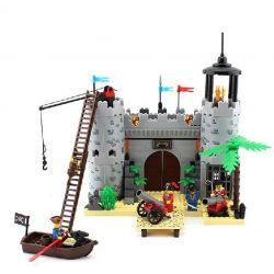 Enlighten 310 Qman 310 Xếp hình kiểu Lego PIRATES OF THE CARIBBEAN Corsair Rob Barrack Robbery Bảo Vệ Thành Trì 366 khối