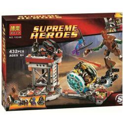 Bela 10249 Lari 10249 Xếp hình kiểu Lego MARVEL SUPER HEROES Knowhere Escape Mission First-line Vital Escape Task Knowhere Giải Thoát Sứ Mệnh 433 khối