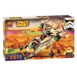Bela 10377 Lari 10377 Xếp hình kiểu Lego STAR WARS Wookiee Gunship Wusheng National Gunboat Phi Thuyền Chiến đấu Wookiee 570 khối