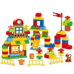 Hystoys Hongyuansheng Aoleduotoys HG-1283 (NOT Lego Duplo Learning Paradise ) Xếp hình Thiên Đường Học Tập 112 khối