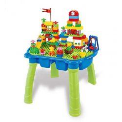 HYSTOYS HONGYUANSHENG AOLEDUOTOYS  HG-1405 1405 HG1405 Xếp hình kiểu Lego Duplo DUPLO Happy Amusement Part Công viên hạnh phúc có bàn hộp 105 khối