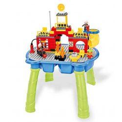 HYSTOYS HONGYUANSHENG AOLEDUOTOYS  HG-1402 1402 HG1402 Xếp hình kiểu Lego Duplo DUPLO Fire Story Câu chuyện cứu hỏa có bàn 107 khối