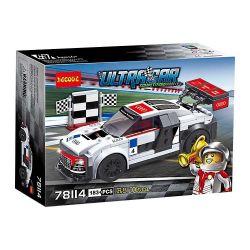 DARGO 975 Decool 78114 Jisi 78114 SHENG YUAN SY 6792 SHENZHEN RAEL ENTERTAINMENT K00001-2 00001-2 Xếp hình kiểu Lego SPEED CHAMPIONS Audi R8 LMS ULTRA Xe Đua Audi R8 LMS Ultra 175 khối