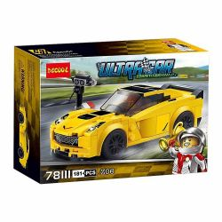DARGO 982 Decool 78111 Jisi 78111 SHENG YUAN SY 6795 WANGAO 7014 WANGE S71 ZIMO ZM107 Xếp hình kiểu Lego SPEED CHAMPIONS Chevrolet Corvette Z06 Chevrok Kervitz06 Xe Đua Chevrolet Corvette Z06 173 khối