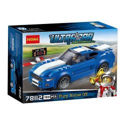 Decool 78112 Jisi 78112 SEMBO SY607018 607018 SY6794 6794 SHENG YUAN SY 607018 6794 WANGAO 7002 Xếp hình kiểu Lego SPEED CHAMPIONS Ford Mustang GT Ford Wild Horse GT Xe Đua Ford Mustang Gt 185 khối