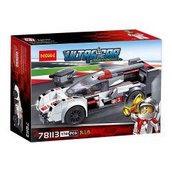 DARGO 976 Decool 78113 Jisi 78113 SHENG YUAN SY 6793 Xếp hình kiểu Lego SPEED CHAMPIONS Audi R18 E-TRON Quattro Xe ô Tô Audi R18 Quattro 166 khối