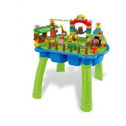 HYSTOYS HONGYUANSHENG AOLEDUOTOYS  HG-1406 1406 HG1406 Xếp hình kiểu Lego Duplo DUPLO Happy Zoo Sở thú vui nhộn có bàn 87 khối