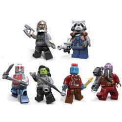 Decool 0262 0263 0264 0265 0266 0267 (NOT Lego Marvel Super Heroes Vondu, Drax, Mantis, Rocket, Taserface, Star-Lord ) Xếp hình 6 Nhân Vật gồm 6 hộp nhỏ 360 khối