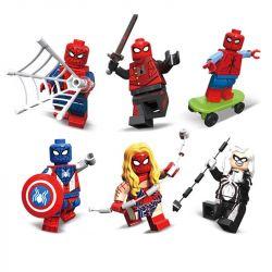 Decool 0274 0275 0276 0277 0278 0279 (NOT Lego Super Heroes Spiderman Man Tsai ) Xếp hình Người Nhện Man Tsai gồm 6 hộp nhỏ 360 khối