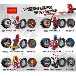 Decool 0274B 0275B 0276B 0277B 0278B 0279B (NOT Lego Super Heroes Spider-Man Man ) Xếp hình Người Nhện gồm 6 hộp nhỏ 288 khối