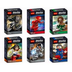 Decool 0282 0283 0284 0285 0286 0287 (NOT Lego Super Heroes Justice League Movie Batman The Flash Aquaman Superman Cyborg Wonder Woman ) Xếp hình 6 Búp Bê Người Dơi Người Tia Chớp Siêu Nhân Nữ Thần Chiến Binh Thất Hải Chi Vương Người Nửa Máy gồm 6 hộp nhỏ 360 khối