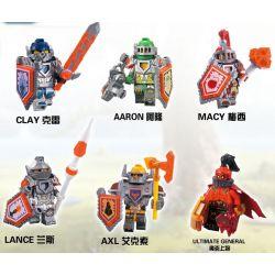 Decool 8811 8812 8813 8814 8815 8816 Jisi 8811 8812 8813 8814 8815 8816 Xếp hình kiểu Lego NEXO KNIGHTS Future Knights House 6 Hiệp Sĩ Tương Lai Aberdeen gồm 6 hộp nhỏ