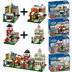 Decool 1101 1102 1103 1104 Jisi 1101 1102 1103 1104 Xếp hình kiểu Lego PROMOTIONAL Bricktober Fire Station Bricktober Pizza Place Bricktober Theater Bricktober Town Hall Mini Street View Theater Mini