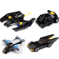 Decool 7004 7005 7006 7007 (NOT Lego Marvel Super Heroes 30301 30161 30300 30162 Batwing Batmobile The Batman Tumbler Quinjet ) Xếp hình Phương Tiện Di Chuyển Của Siêu Anh Hùng gồm 4 hộp nhỏ 180 khối