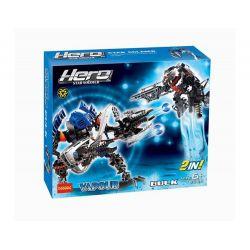 Decool 9365 Jisi 9365 Xếp hình kiểu Lego HERO FACTORY Hero Factory Duncan Bulk And Vapour Trận Chiến 89 khối