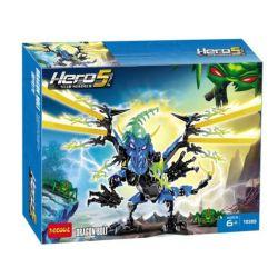 DECOOL 10389 Xếp hình kiểu Lego HERO FACTORY DRAGON BOLT Hero Factory Thundermond Dragon Rồng Lửa BOLT 149 khối