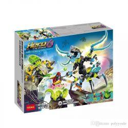 Decool 10588 Jisi 10588 Xếp hình kiểu Lego HERO FACTORY QUEEN Beast Vs. FURNO, EVO & STORMER Hero Factory Huaguang, Wings And Strikes To Fight Women's Beast Nữ Hoàng Quái Thú đánh Nhau Với Furno, Evo